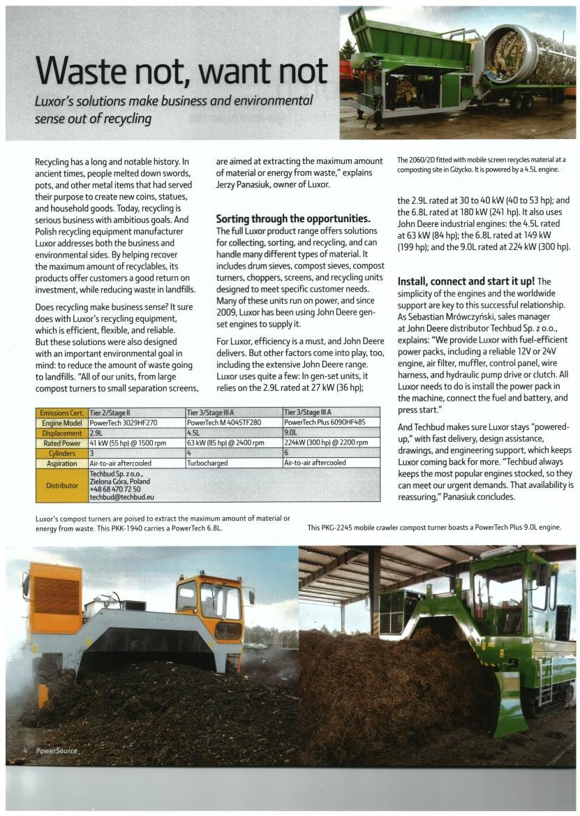Power Source A publication of John Deere